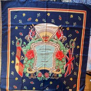 Vintage silk scarf Queen's Silver Jubilee